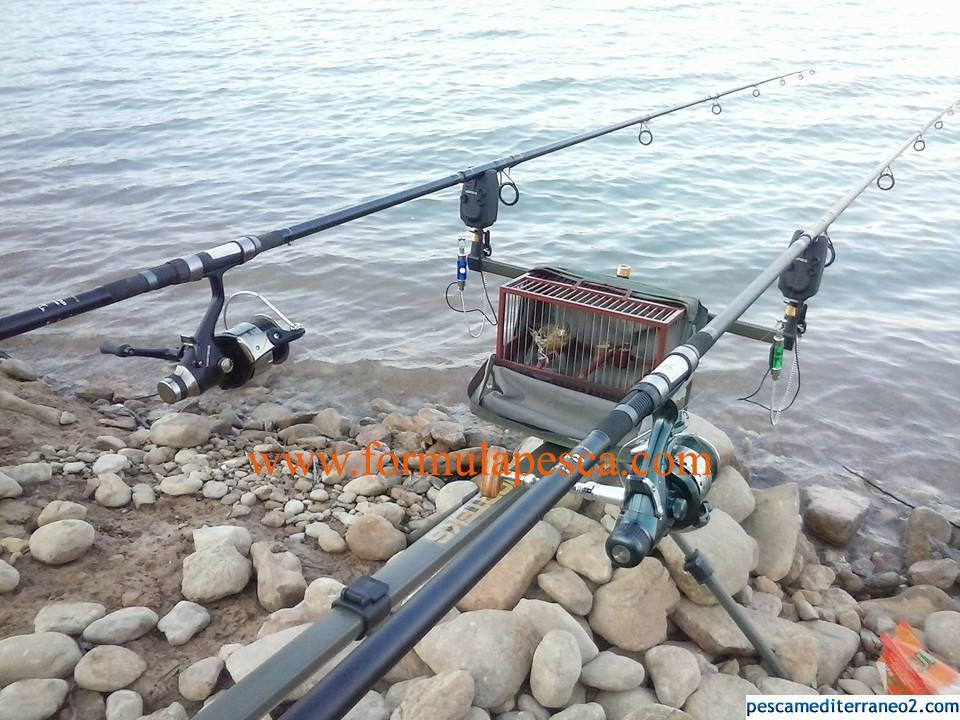 Pesca Carpfishing con música