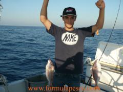 Doblete de pageles pesca barco.