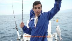 Doblete de pageles pesca barco